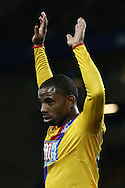 Jason Puncheon of Crystal Palace holds his hands up. Premier league match, Everton v Crystal Palace at Goodison Park in Liverpool, Merseyside on Friday 30th September 2016.<br /> pic by Chris Stading, Andrew Orchard sports photography.