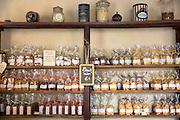 Display of biscuits for sale at cafe La Rose de Vergy in Rue de la Chouette in Dijon in the Burgundy region of France