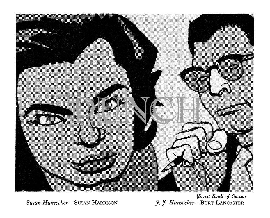 Sweet Smell of Success : Susan Hunsecker - Susan Harrison ; J.J. Hunsecker - Burt Lancaster