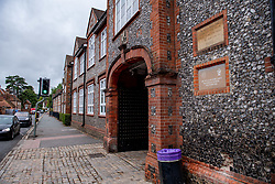 © Licensed to London News Pictures. 03/09/2020. Marlow, UK. Sir William Borlase's Grammar School in Marlow has delayed opening after a number of students tested positive for the COVID-19 coronavirus. These cases are all linked and were acquired abroad during the school holidays. All households are now self-isolating having been contacted by test and trace staff. The school is now due to open on 10th September. Photo credit: Peter Manning/LNP