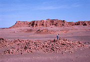 Altangerel Perle, Mongolian paleontologist searches for dinosaurs at the Flaming Cliffs of Mongolia.