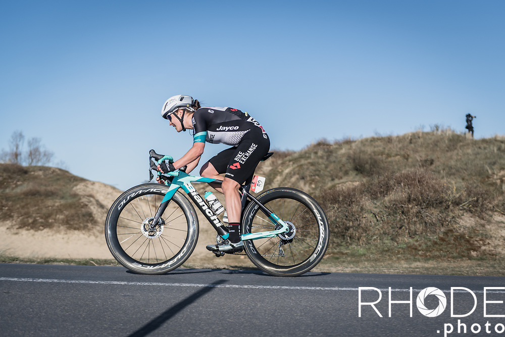 Grace Brown (AUS/BikeExchange) on her way to solo victory<br /> <br /> Oxyclean Classic Brugge-De Panne 2021 (WE/1.WWT) - Belgium<br /> 1 day race from Brugge to De Panne (159km)<br /> <br /> ©RhodePhoto