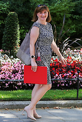 © Licensed to London News Pictures. 25/07/2019. London, UK. Culture Secretary NICKY MORGAN departs from No 10 Downing Street after attending Boris Johnson's first cabinet meeting. Photo credit: Dinendra Haria/LNP
