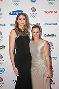 British Sailing team mates Eilidh Mcintyre and Hannah Mills at Team GB's annual ball at Old Billingsgate on the 21st November 2019 in London in the United Kingdom.