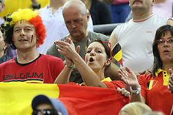 07.09.2014, Krakow Arena, Krakau, POL, FIVB WM, Frankreich vs Belgien, Gruppe D, im Bild KIBICE BELGIA // during the FIVB Volleyball Men's World Championships Pool D Match beween France and Belgium at the Krakow Arena in Krakau, Poland on 2014/09/07.<br /> <br /> ***NETHERLANDS ONLY***