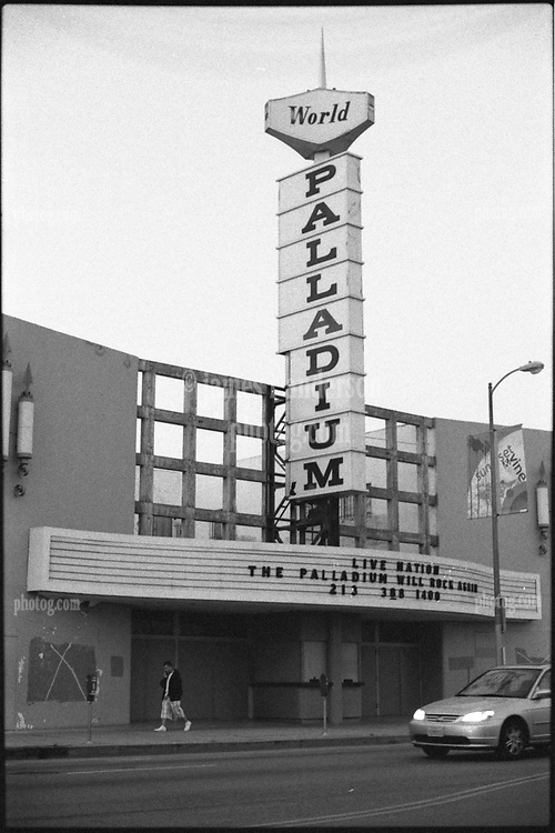 Hollywood Palladium facade looking rundown during Live Nation Renovations March 2008.