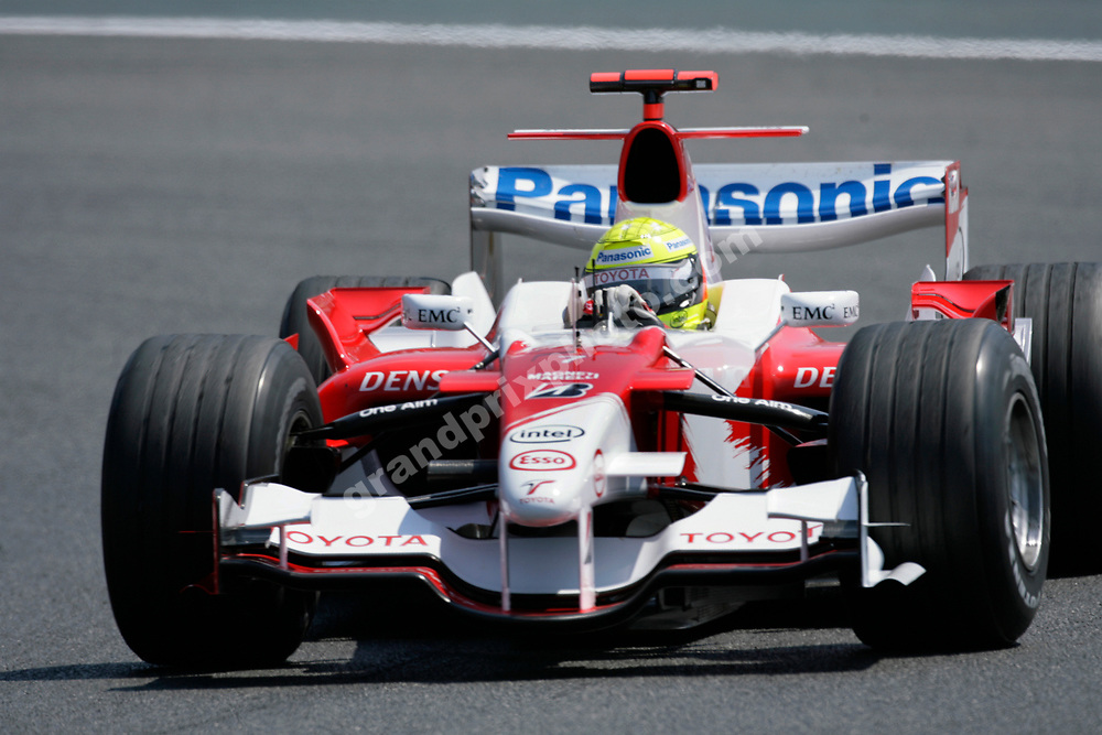 Ralf Schumacher (Toyota) during practice for the 2006 French Grand Prix in Magny-Cours. Photo: Grand Prix Photo