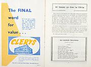 All Ireland Senior Hurling Championship Final,.06.09.1959, 09.06.1959, 6th September 1959,.Minor Kilkenny v Tipperary, .Senior Kilkenny v Waterford, Waterford 3-12. Kilkenny 1-10, ..Advertisement, Clerys,
