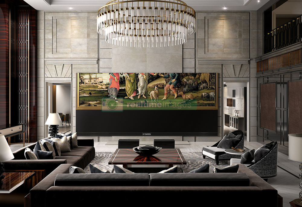 """June 13, 2017 - inconnu - The world´s largest 4k ultra high-definition widescreen TV has been launched.The C Seed 262 screen measures an incredible 6.65 metres / almost 22 feet diagonally.The retail price in Europe is an equally massive €490.000 Euros plus a system installation and project management fee of an additional €35.000 Euros !The set itself is 6.14 metres long and 2.7 metres high while the screen area is 15.78 square metres.It has been created by Austrian-based luxury electronics specialist C SEED introduces C SEED 262, A spokesman said the set was """" excellent news for the happy few whose living room is huge enough to accommodate"""" the world record display.She added:"""" You can stop thinking big and start thinking giant. """"It has earned worldwide recognition and a prestigious design award with groundbreaking outdoor entertainment systems, collaborating with Porsche Design to launch the world-record C SEED 201 outdoor TV and, recently, teaming up with L-Acoustics to create the C SEED 125 outdoor sound system.The spokesman said : """" Now these technology innovators have turned their attention to indoors, where up to now conventional wisdom dictated that full cinematic entertainment is only available in a private movie theatre in a remote corner of a luxury mansion. """" C SEED changes this game, introducing the 262, an enormous 6144 mm by 2574 mm 4k LED TV display .""""It uses black LED technology for higher contrast, latest Ultra HD technology for a really dynamic picture and a colour spectrum far beyond conventional TVs.The ultra-high 800 nits brightness is said to be the perfect viewing experience even in bright daylight conditions.The unit comes with an integrated 4k media server and six integrated high-end speakers for quality 7.1. or 9.1 cinema surround surrounds configuration.It has a motorised custom high end fabric cover to hide the screen at the click of a button. Resolution is 4096 x 1716 pixels .The sc"""
