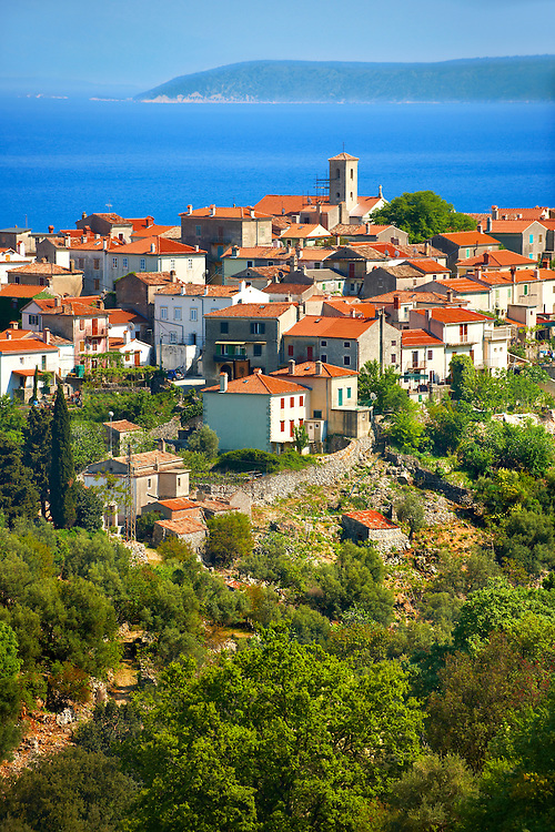 Beli hill town, Cres Island, Croatia .<br /> <br /> Visit our CROATIA HISTORIC SITES PHOTO COLLECTIONS for more photos to download or buy as wall art prints https://funkystock.photoshelter.com/gallery-collection/Pictures-Images-of-Croatia-Photos-of-Croatian-Historic-Landmark-Sites/C0000cY_V8uDo_ls