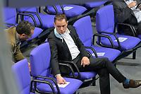 DEU, Deutschland, Germany, Berlin, 27.01.2021: AfD-Parteichef Tino Chrupalla (AfD) und Dr. Harald Weyel (AfD) in der Plenarsitzung im Deutschen Bundestag.