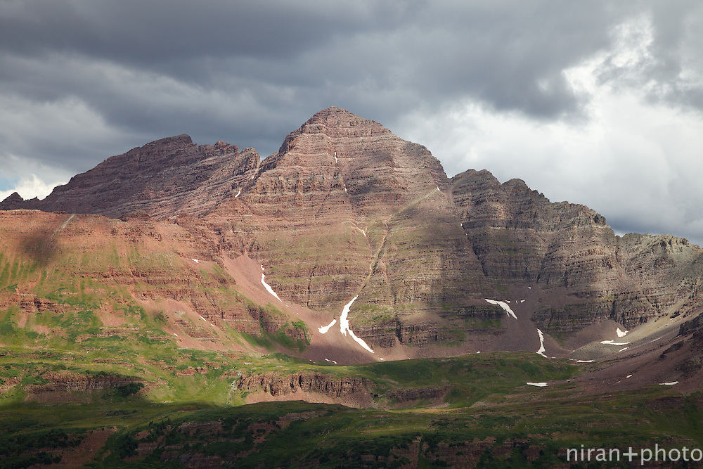 View from Frigid Air Pass of the Maroon Bells
