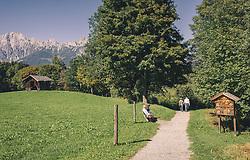 THEMENBILD - Spazierweg rund um den Ritzensee, aufgenommen am 29. Septembert 2019 in Saalfelden, Oesterreich // Walk around the Ritzensee, in Saalfelden in Austria on 2019/09/29. EXPA Pictures © 2019, PhotoCredit: EXPA/Stefanie Oberhauser
