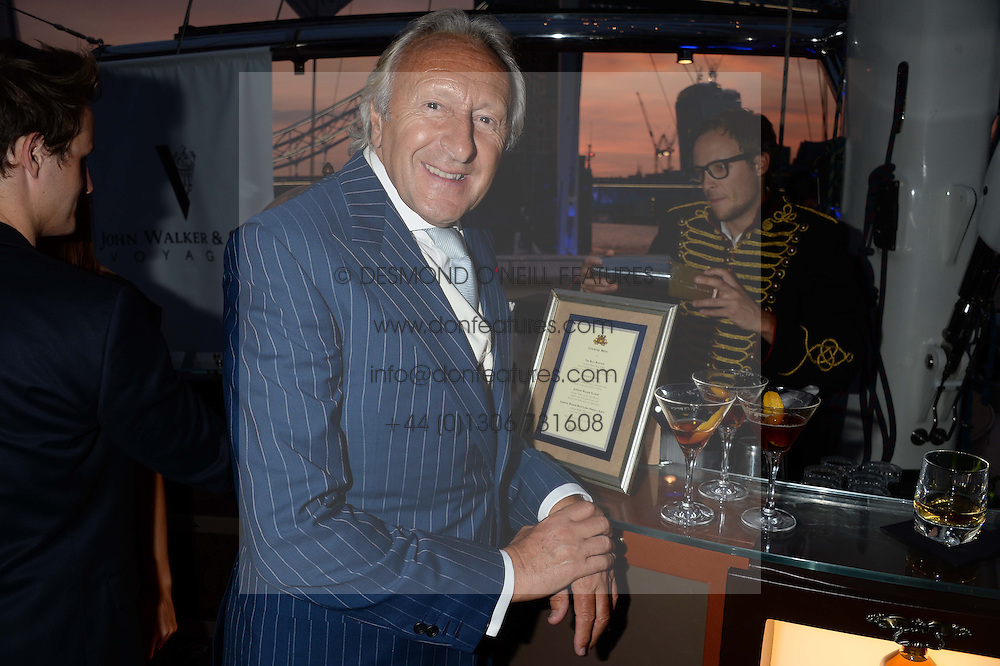 The Johnnie Walker Blue Label and David Gandy Drinks Reception aboard John Walker & Sons Voyager, St.Georges Stairs Tier, Butler's Wharf Pier, London, UK on 16th July 2013.<br /> Picture Shows:-Harold Tillman
