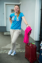 Marusa Ferk at departure of Slovenian Women Ski Team to training camp in Argentina on August 5, 2014 in SZS, Ljubljana, Slovenia. Photo by Vid Ponikvar / Sportida.com