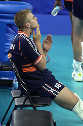 21-09-2000 AUS: Olympic Games Volleybal Nederland - Brazilie, Sydney<br /> Nederland verliest verliest met 3-0 van Brazilie / Joost Kooistra