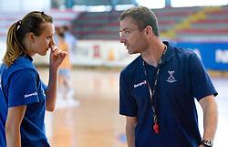 Amra Pandzic and Bostjan Brulec at practice of Slovenian Handball Women National Team, on June 3, 2009, in Arena Kodeljevo, Ljubljana, Slovenia. (Photo by Vid Ponikvar / Sportida)