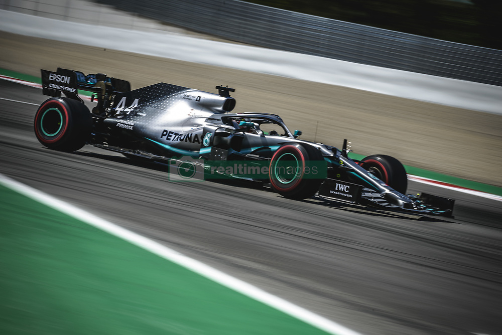 May 12, 2019 - Barcelona, Catalonia, Spain - LEWIS HAMILTON (GBR) from team Mercedes drives in his W10 during the Spanish GP at Circuit de Catalunya (Credit Image: © Matthias Oesterle/ZUMA Wire)