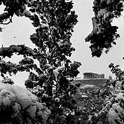 Acropolis During Snowstorm Feb 2021