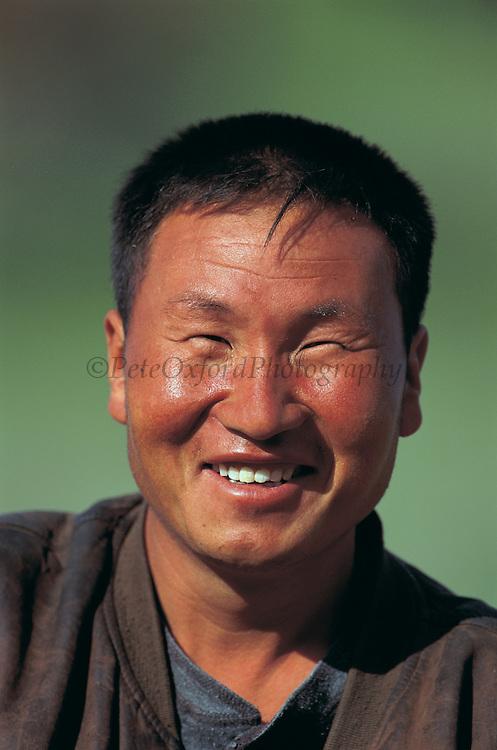 Mongolian man<br /> Gobi Desert<br /> Mongolia