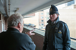 Constable on foot patrol in the City of London