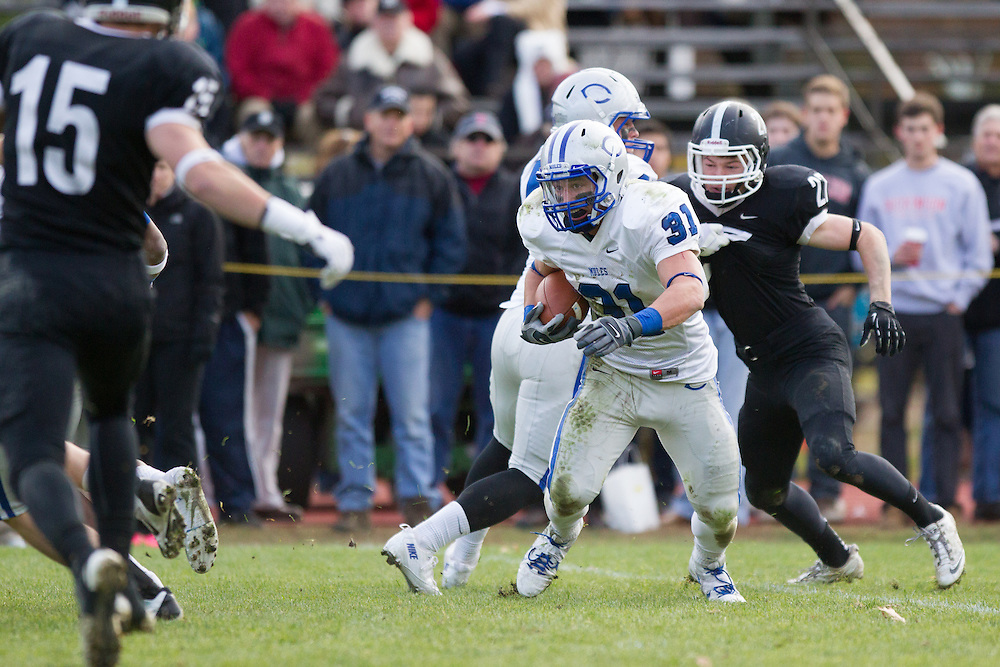 Zach Padula, of Colby College, during a NCAA Division III football game against Bowdoin College on November 9, 2013 in Waterville, ME. (Dustin Satloff/Colby College Athletics)