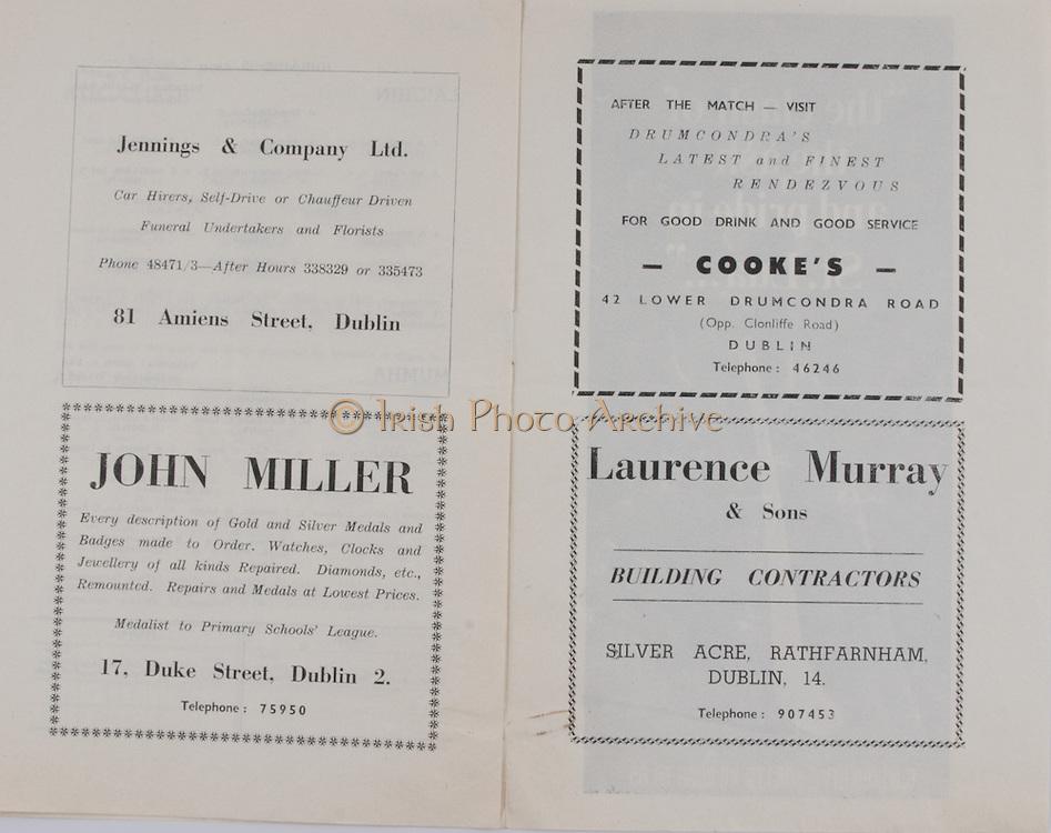 Jennings  & Company, 81 Amiens Street, Dublin.John Miller, 17 Duke Street,.Cooke's,43 Lower Drumcondra Road,.Laurence Murray & Sons, Silver Acre Rathfarnham,