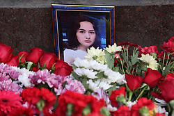 April 4, 2017 - Saint Petersburg, Russia - People lay flowers at Tekhnologichesky institute subway station in St Petersburg, Russia. Russian police continue investigations after 14 people were killed and dozens injured in St Petersburg following explosions between two of the city's underground stations. The suspect is reportedly a native of Kyrgyzstan named as Akbarzhon Jalilov who obtained Russian citizenship, according to the Central Asian country's security service. Authorities in St Petersburg have declared three days of mourning. (Credit Image: © Igor Russak/NurPhoto via ZUMA Press)