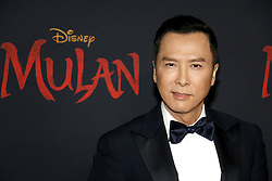 Donnie Yen at the World premiere of Disney's 'Mulan' held at the Dolby Theatre in Hollywood, USA on March 9, 2020.
