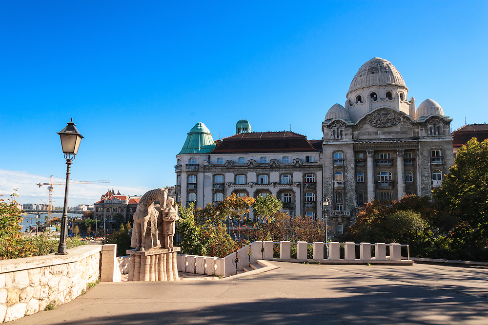 The famous Gellert Bath and Hotel in Budapest, Hungary. Budapest rests on the thermal water, and it has 118 thermal springs in the city.