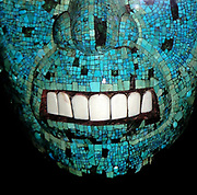 'Turquoise mosaic mask. Mexica/Mixtec, c1500-1521'