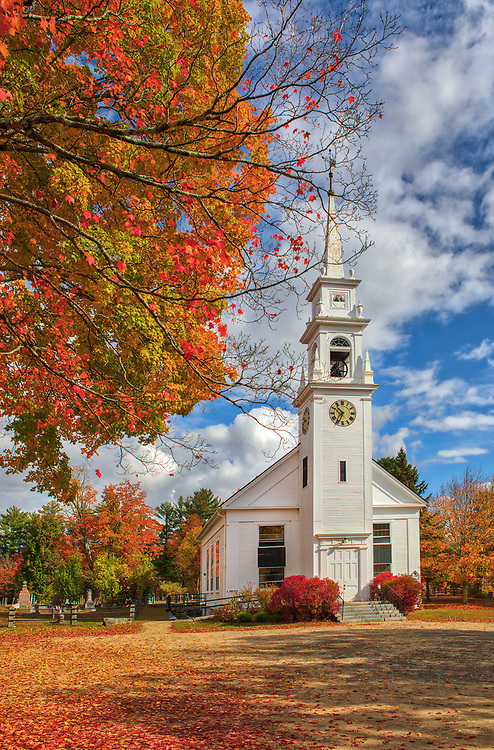 New England fall foliage photography of the historic white steeple Community Church of Sandwich in the Squam Lake region of New Hampshire.<br /> <br /> New Hampshire White Mountains fall foliage photography images of the white steeple Community Church in Sandwich are available as museum quality photo, canvas, acrylic, wood or metal prints. Wall art prints may be framed and matted to the individual liking and interior design decoration needs:<br /> <br /> https://juergen-roth.pixels.com/featured/sandwich-white-steeple-community-church-new-hampshire-juergen-roth.html<br /> <br /> Contact Juergen directly for photo wall art murals.<br /> <br /> Good light and happy photo making!<br /> <br /> My best,<br /> <br /> Juergen