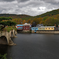 Massachusetts photography of the Bridge of Flowers in in Shelburne Falls, Massachusetts, and this New England bridge connects the towns of Shelburne and Buckland, MA.<br />