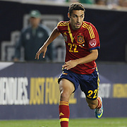 Jesus Navas, Spain, in action during the Spain V Ireland International Friendly Football match at Yankees Stadium, The Bronx, New York. USA. 11th June, 2013. Photo Tim Clayton
