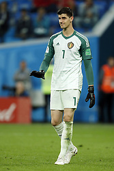 Belgium goalkeeper Thibaut Courtois during the 2018 FIFA World Cup Semi Final match between France and Belgium at the Saint Petersburg Stadium on June 26, 2018 in Saint Petersburg, Russia