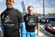 Image licensed to Lloyd Images.<br /> The Extreme Sailing Series 2015. Act 4 - Cardiff. UK<br /> The Wave, Muscat skippered by Leigh McMillan (GBR)<br /> Credit: Lloyd Images