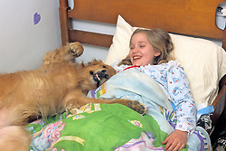 Sarah Cushna In Bed W/ Allie On Bed