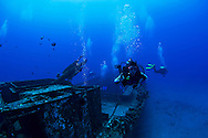Scuba Divers on the Carthaginian II, Maui Hawaii