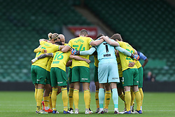 Norwich huddle pre match - Mandatory by-line: Arron Gent/JMP - 24/10/2020 - FOOTBALL - Carrow Road - Norwich, England - Norwich City v Wycombe Wanderers - Sky Bet Championship