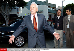 Kirk Douglas Dies At 103 - © Lionel Hahn/ABACA. 44421-13. Los Angeles-CA-USA. 04/07/03. Cast member Kirk Douglas attends the premiere of It Runs In The Family at the Mann Bruin Theatre in Westwood.