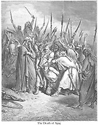 Death of Agag 1 Samuel 15:33 From the book 'Bible Gallery' Illustrated by Gustave Dore with Memoir of Dore and Descriptive Letter-press by Talbot W. Chambers D.D. Published by Cassell & Company Limited in London and simultaneously by Mame in Tours, France in 1866