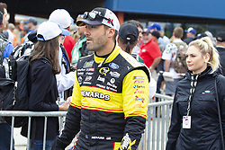 June 10, 2018 - Brooklyn, Michigan, U.S - NASCAR driver PAUL MENARD (21) walks in the pit area at Michigan International Speedway. (Credit Image: © Scott Mapes via ZUMA Wire)
