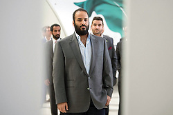 A rare image of Saudi Crown Prince Mohammad bin Salman Al-Saud wearing 'western' suit, during a visit to Virgin Galactic in Mojave, California, United States of America, on April 1st, 2018. The tour is part of Saudi Crown Prince to the United States of America. Photo by Balkis Press/ABACAPRESS.COM