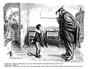 """Small boy. """"If you please, sir, - may we have an extra half-holiday this afternoon?"""" Headmaster. """"Why?"""" Small boy. """"Well - sir - we - thought you might feel like it, sir - as you were singing in your bath this morning!"""""""
