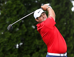 June 22, 2018 - Cromwell, Connecticut, United States - Patrick Reed tees off the 9th hole during the second round of the Travelers Championship at TPC River Highlands. (Credit Image: © Debby Wong via ZUMA Wire)