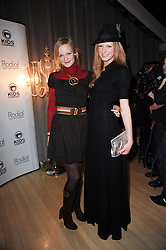 Left to right, sisters ALEXIA INGE and OLIVIA INGE at The Rodial Beautiful Awards in aid of the charity Kids Company held in the Billiard Room at The Sanderson, 50 Berners Street, London on 3rd February 2010.