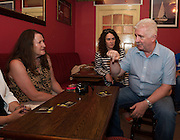 Tony Freeney, Freeney's pub and Whiskey Shop talk to reporters  on the Galway Whiskey Trail launch day where 10 pubs in Galway have a selection of the finest Irish Whiskies.<br /> Photo:Andrew Downes, xposure
