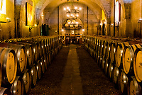 Wine cellar, Haute Cabriere Vineyard Estate, Franschhoek Pass, Franschhoek, Cape Winelands, South Africa.