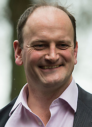 © Licensed to London News Pictures. 20/02/2016. London, UK. UKIP MP DOUGLAS CARSWELL leaving Milbank studios on the day that Prime Minister David Cameron announced that there will be a referendum on the EU on June 23rd.. Photo credit: Ben Cawthra/LNP