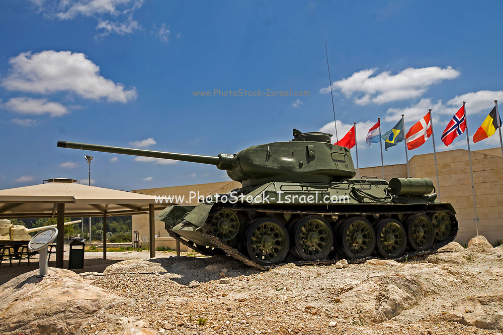 Yad La-Shiryon (The Armored Corps Memorial Site and Museum at Latrun) is Israel's official memorial site for fallen soldiers from the armored corps, as well as one of the most diverse tank museums in the world. The outdoor display includes 110 tanks and other armored fighting vehicles, both Israeli and captured enemy examples including the Merkava and T-34, T-54, T-55, T-62 tanks, as well as vehicles obtained or purchased from allied nations specifically for diversifying the collection like the German Leopard tank or the only T-72 on display in Israel. Other notable items include: an M4 Sherman tank mounted high atop a former British water tower; a collection of mobile bridges constructed by the IDF (Israeli Defense Forces) which can be carried by tanks and erected while under fire; captured enemy vehicles, most of which Israel has modified and updated; a tank with a blown up gun; and a long, engraved commemorative wall bearing the names of Armored Corps soldiers killed in defense of the country.